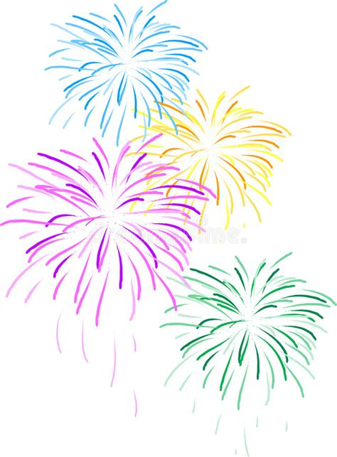 clipart fuochi d artificio fireworks stock illustration illustration of clipart