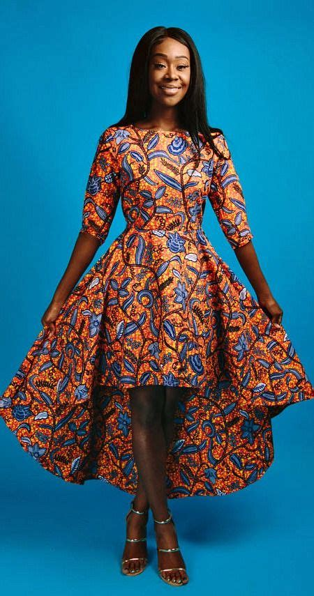 nice pictures of chitenge suits and dresses well swon zuri hi low dress african print hi low dress 3 4