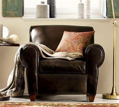 manhattan armchair manhattan leather armchair pottery barn