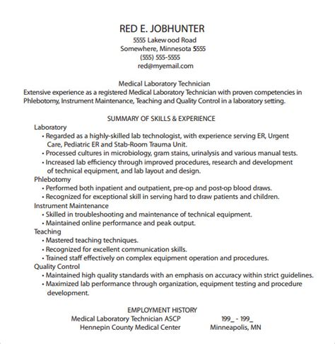 phlebotomy resume template 6 download free documents in