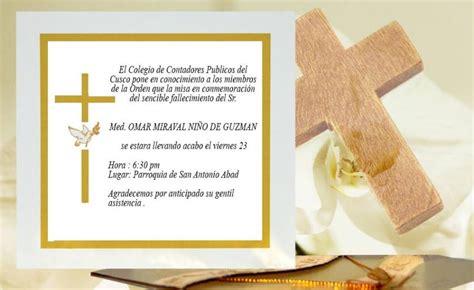 diseos de tarjetas para invitacin de misa de difuntos invitaci 243 n a misa