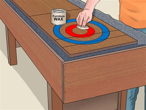 a shuffleboard table how to a shuffleboard table with pictures wikihow