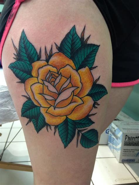 traditional roses tattoo yellow tattoos designs ideas and meaning tattoos