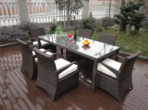 Installing Wicker Patio Dining Set The Homy Design Wicker Patio Dining Set