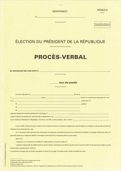 bureau de recensement proc 232 s verbal du bureau de recensement g 233 n 233 ral du