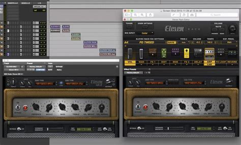 avid eleven ii plugin compared with eleven rack pro