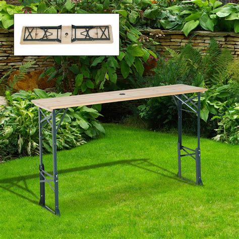 6 ft adjustable height table outsunny 6ft folding height adjustable picnic table w
