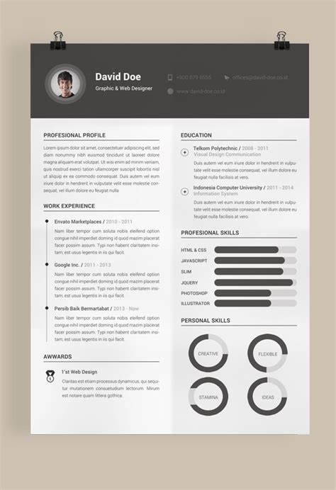 Resume Template Fernando Baez Zip by 8 Effective And Free To Use Resume Template Downloads