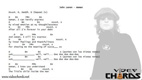 imagenes john lennon acordes john lenon woman acordes para guitarra en video youtube
