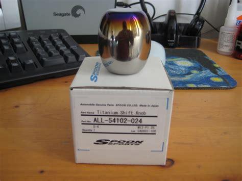 Spoon Titanium Shift Knob by Fs Spoon Titanium Shift Knob With T1r Shifter Combo