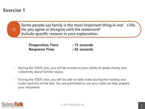 toefl speaking section sles toefl speaking test preparation lesson 10 t
