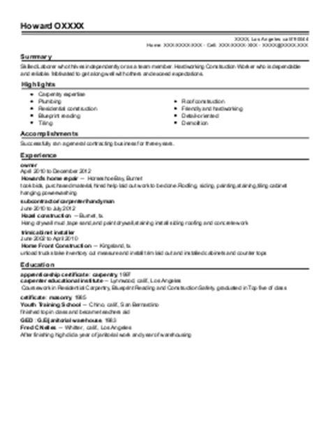 Sle Resume For Kitchen Cabinet Installer Cabinet Installer Resume Sales Installer Lewesmr
