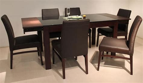 glass and wood dining room table extendable wood and glass top designer modern dining room