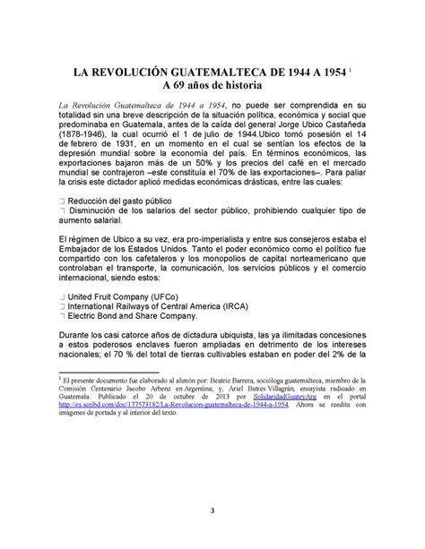 preguntas sobre cultura general argentina la revoluci 243 n guatemalteca de 1944 a 1954 monografias