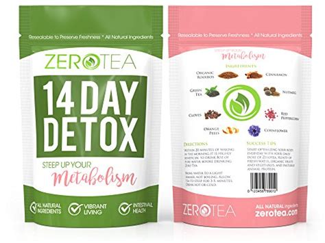 14 Day Detox by Zero Tea 14 Day Detox Tea Weight Loss Tea Teatox Herbal