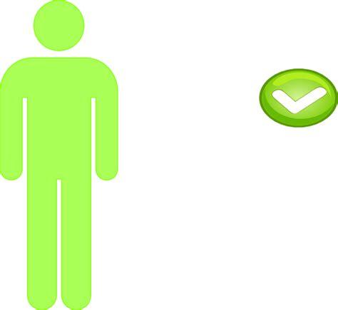 Single Clipart single person icon light green clip at clker