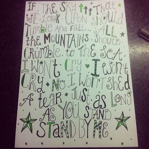 doodle lyrics stand by me lyric pic doodle