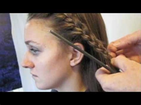 how to french braid bangs to the side easy step by step how to french braid your bangs youtube