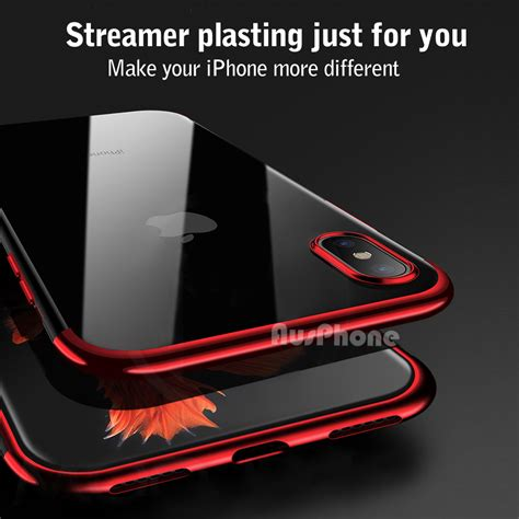 apple iphone xs max  xr case slim clear soft bumper shockproof thin cover ebay