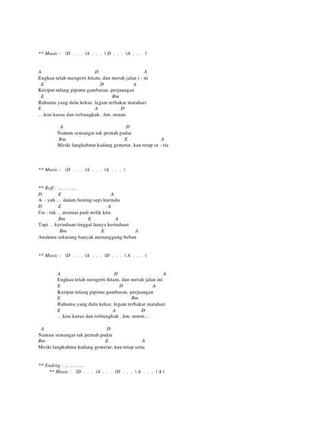 Chord Musik Ebiet G Ade | chord berita kepada kawan ebiet