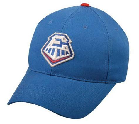 Authentic Visor Label 6 Panel Navy milb minor league rock express navy hat cap adjustable velcro twill rangers