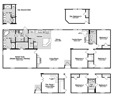 palm harbor floor plans the greystone ftp476d9 home floor plan manufactured and