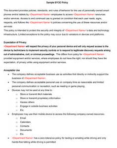 policy agreement template byod policy templates 4 best sles and exles