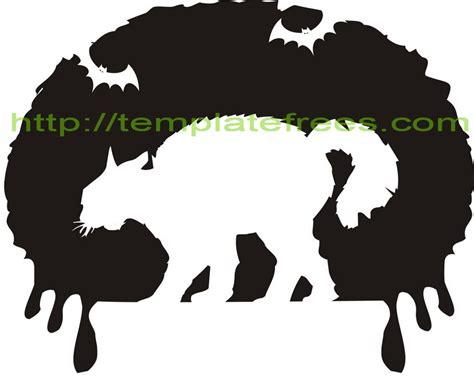 printable pumpkin stencils cat cat face template cliparts co
