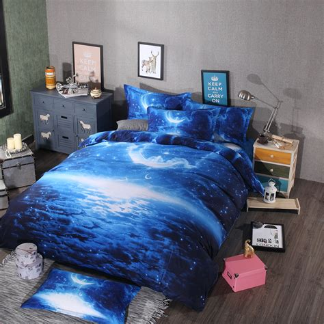 space themed bedding hot sale modern 3d galaxy bedding sets twin queen size