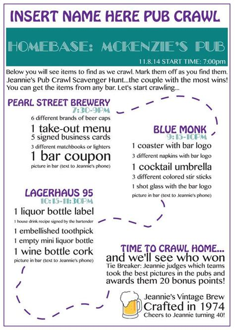 barcrawl card template 25 best ideas about pub crawl on how to