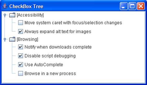 java swing checkbox checkbox node tree sle tree renderer editor 171 swing