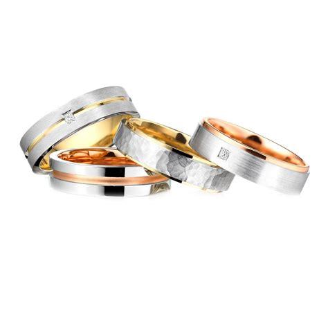 Two Metal Wedding Rings by Charles Green Two Tone Precious Metal Wedding Rings