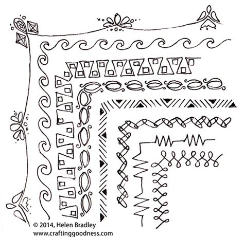 doodle border ideas draw border doodles for frames and other projects
