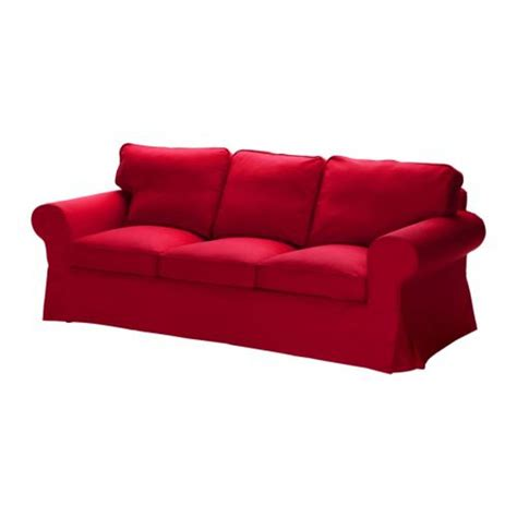 Ikea Ektorp 3 Seat Sofa Slipcover Cover Idemo Red 3 Seat Sofa Slipcovers