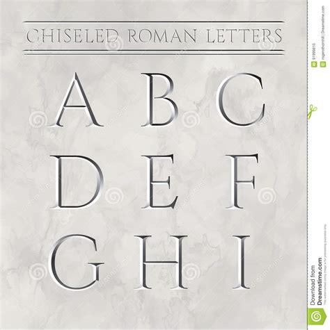 lettere romane lettere romane cesellate in pietra di marmo illustrazione