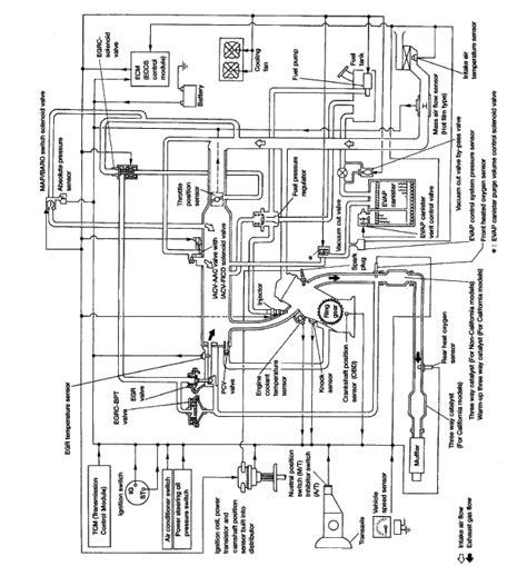 1999 nissan maxima vacuum hose diagram i need a functional vacuum hose diagram for a 1998 nissan