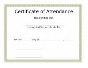 certificates of attendance templates certificate of attendance free certificate of attendance