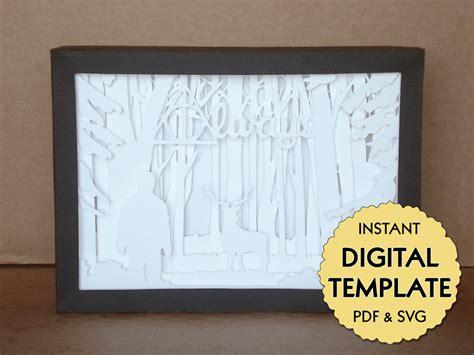 Template Harry Potter Patronus Paper Cut File Silhouette Light Box Tutorial Pdf Svg Digital Papercut Lightbox Template