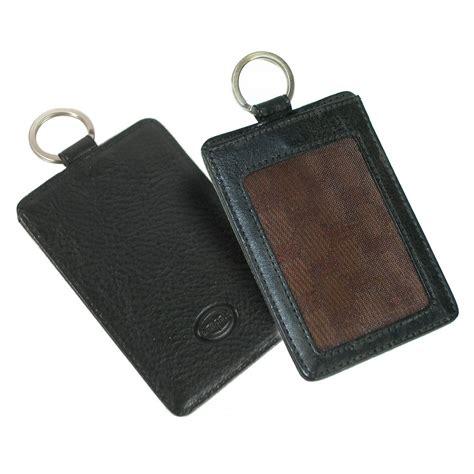 porta badge pelle badge porta card indirizzo e portachiavi in pelle toscana