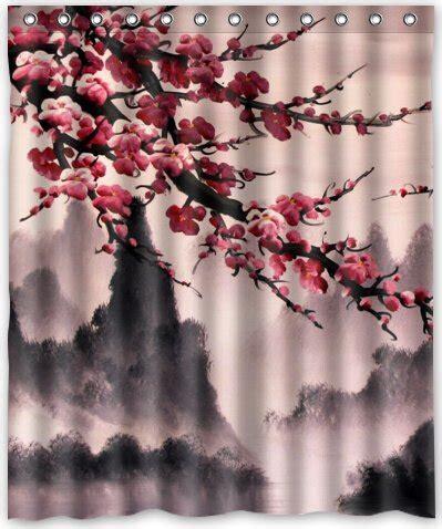 cherry blossom drapes pretty cherry blossom shower curtain