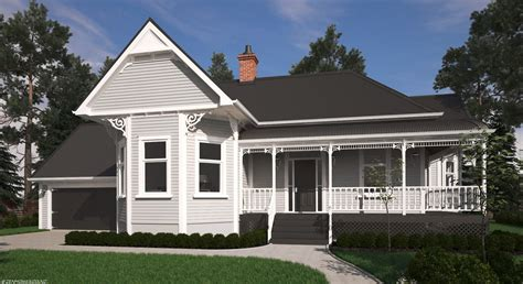 victorian bay villa house plans  zealand