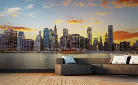 Papier Peint New York 2378 by Papiers Peints New York Mur Aux Dimensions Myloview Fr