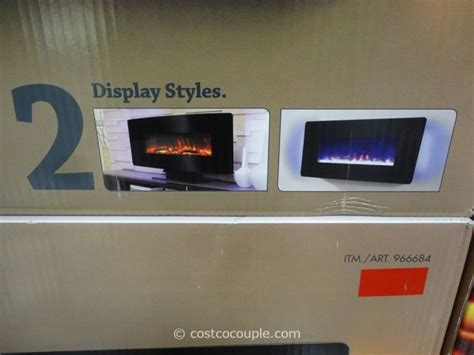 wall fireplace costco muskoka curved wall mount electric fireplace