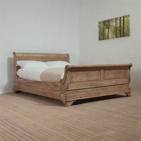 weathered wood bed french louis phillipe sleigh bed weathered oak wood