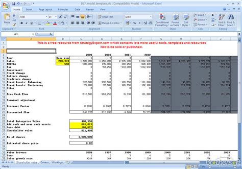 company valuation template excel best photos of dcf valuation excel dcf model excel