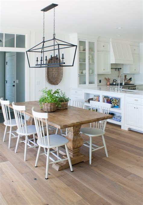 lake house dining room ideas lake house dining room with wide plank oak flooring white