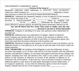 Indemnity Agreement Template Sample Indemnity Agreement 12 Documents In Word Pdf