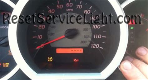 how to reset maintenance light on toyota tundra reset service light toyota tundra second generation