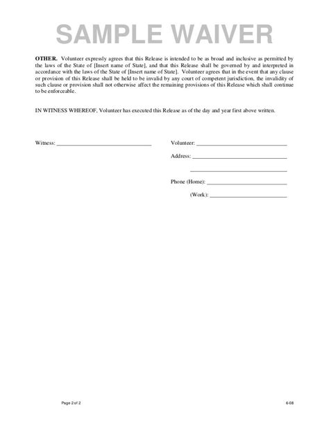 waiver of liability picture liability waiver release and