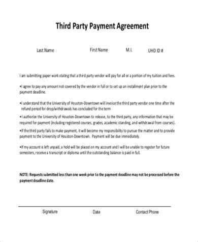 third wall agreement template sle vendor contract free 10 vendor